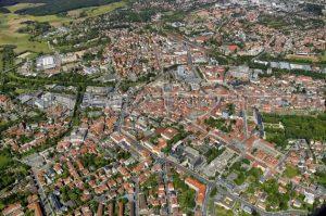 Bayreuther Innenstadt von oben