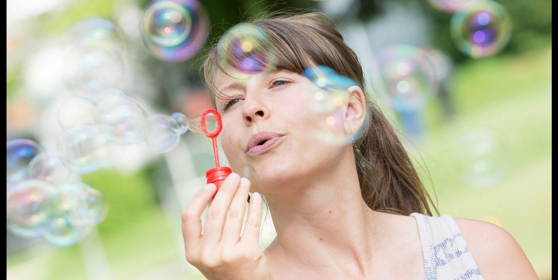 Seifenblasenmädchen